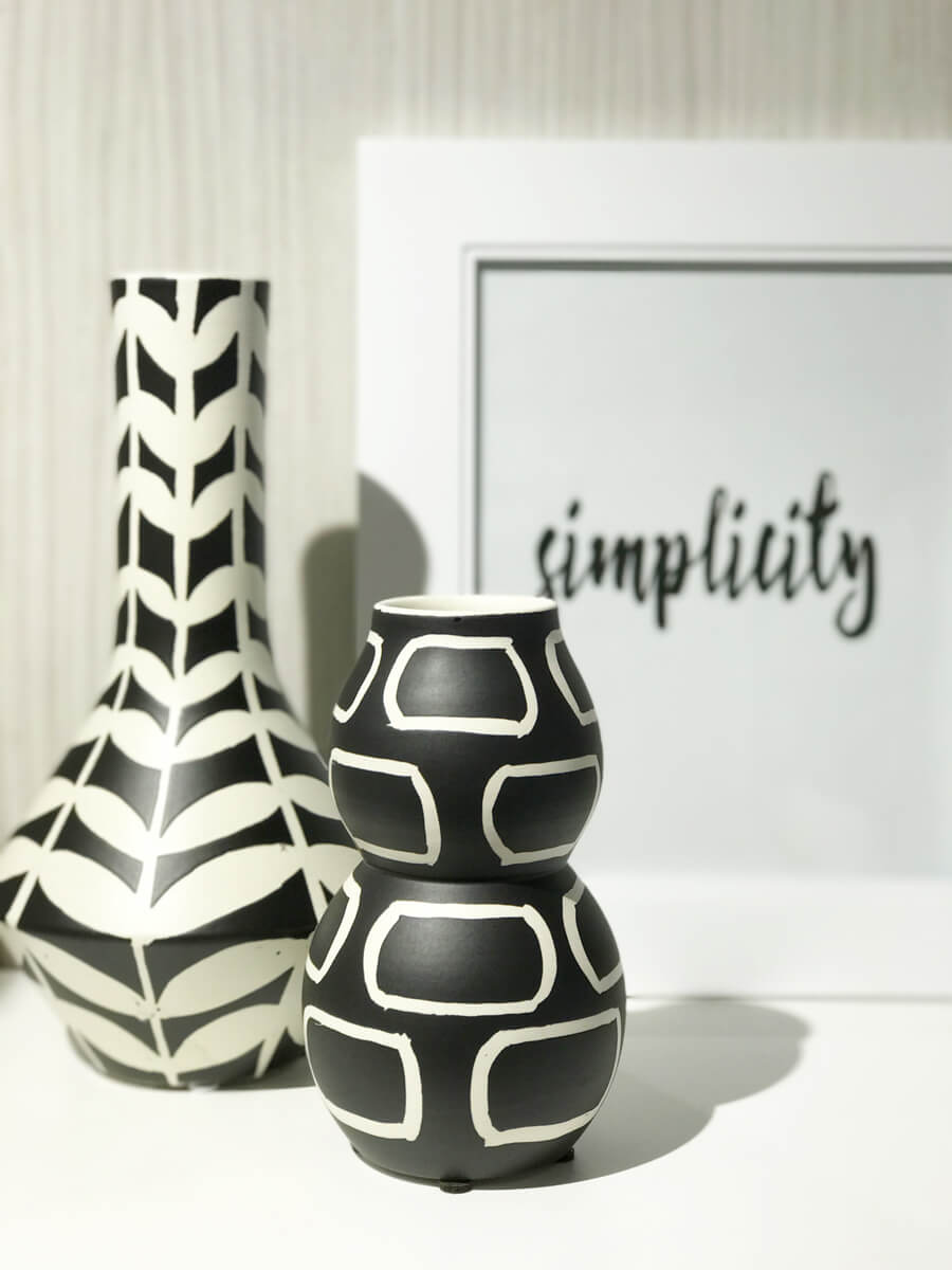 Black and white pottery | K. Renee