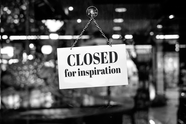 Closed for inspiration