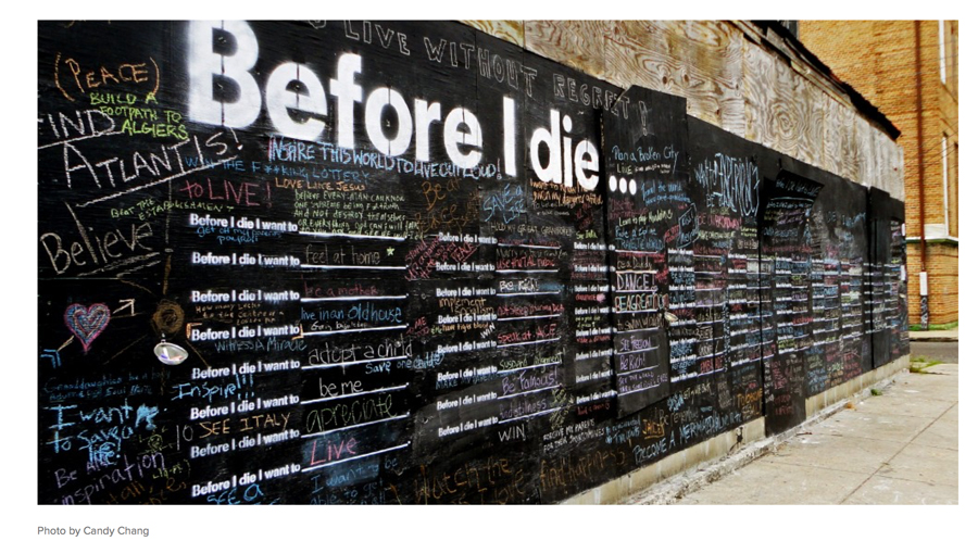 Candy Chang Before I Die Project