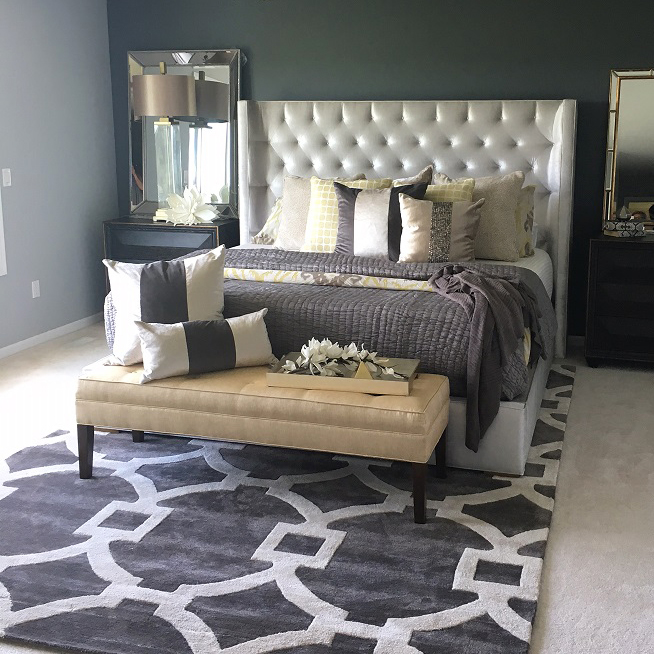 Where To Put Rug Under Bed - Rug Designs