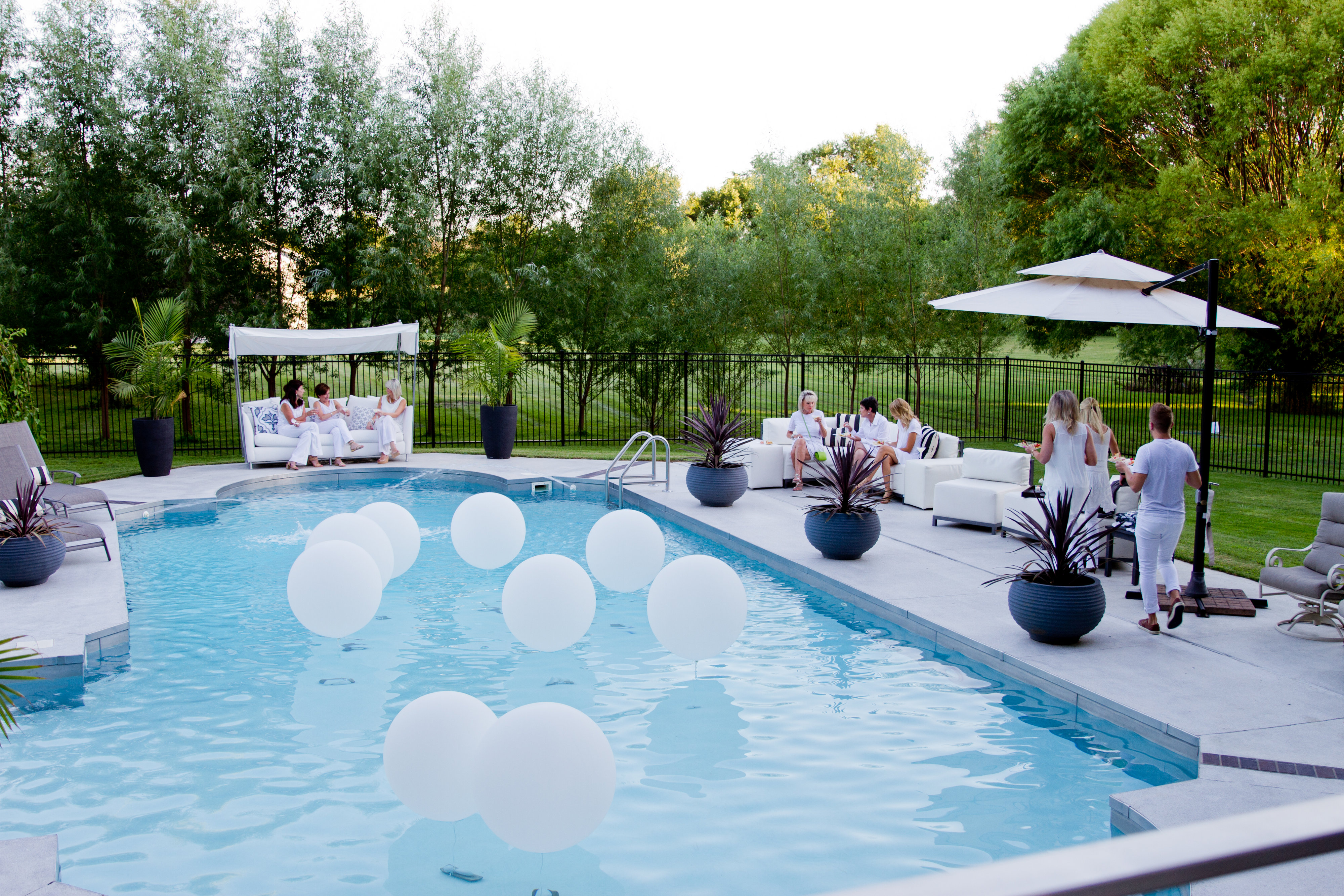 Their All White Outfits And The Back Yard Provided Sorts Of Comfortable Seating That Allowed Us To Relax By Poolenjoying Each Others Company